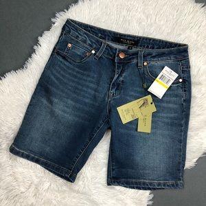 "NWT Max Jeans Bermuda 7"" Denim Walking Shorts 8"